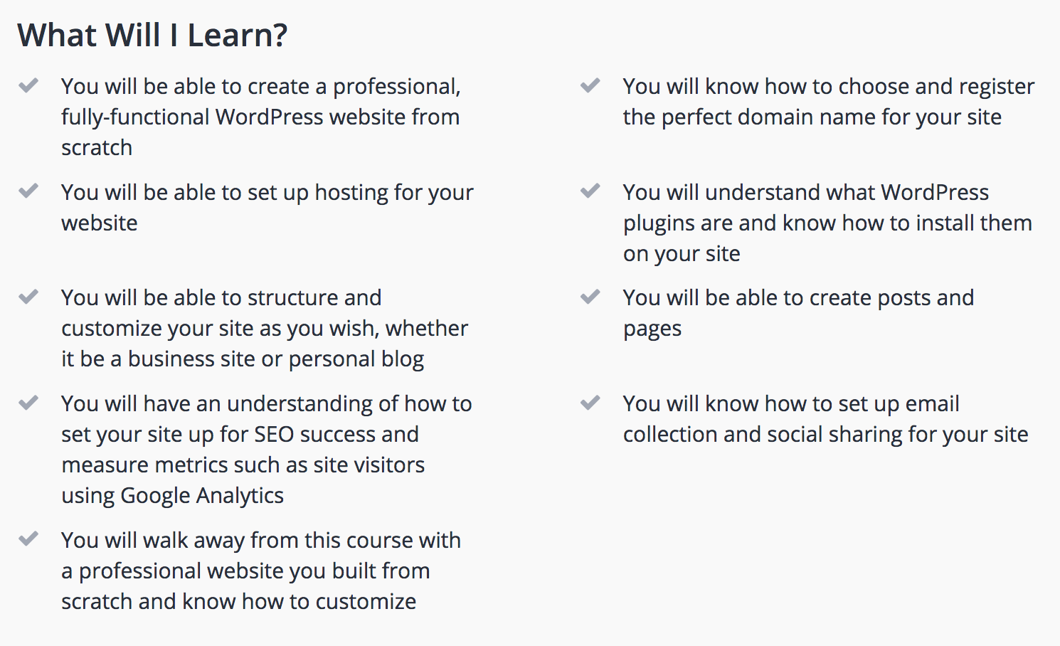 What You'll Learn in the Web Design Course