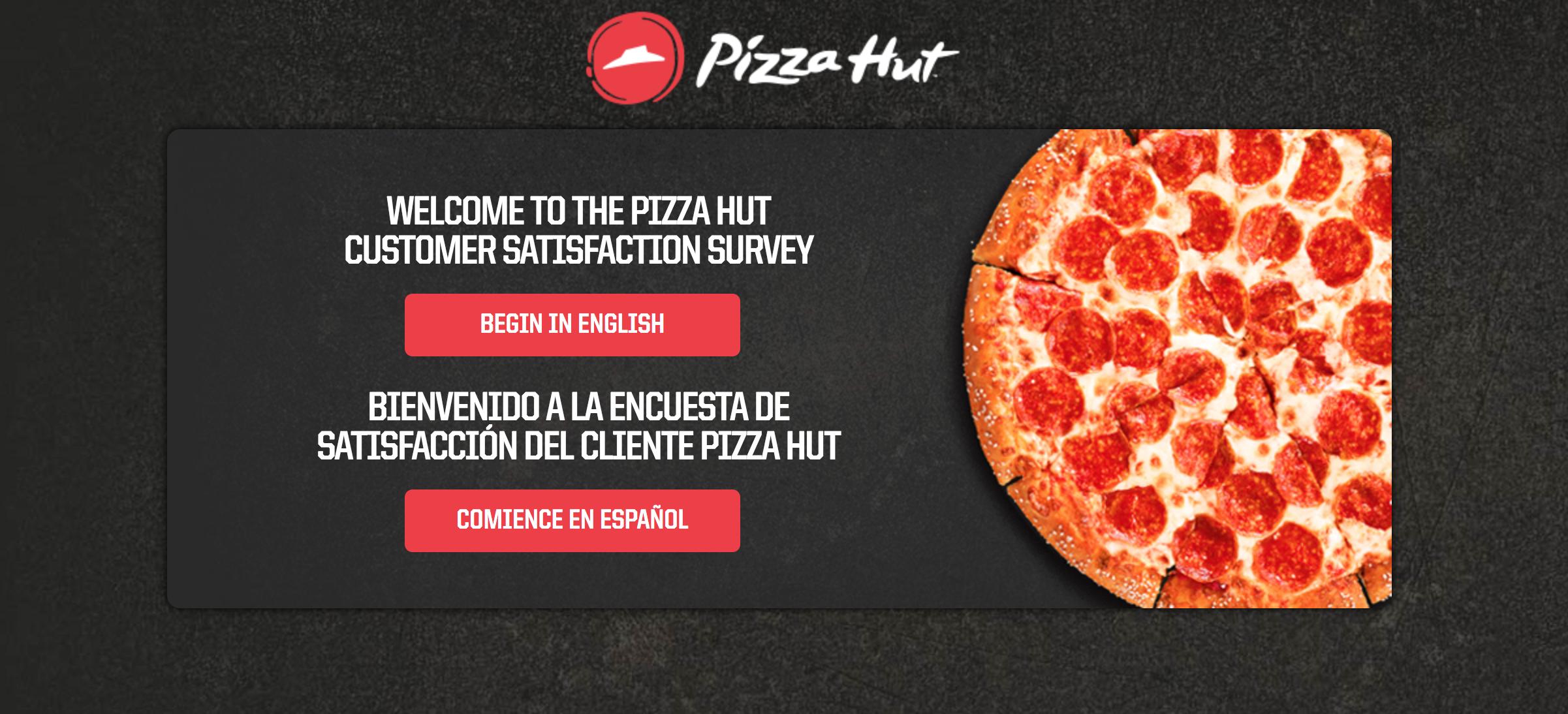 www.tellpizzahut.com survey homepage