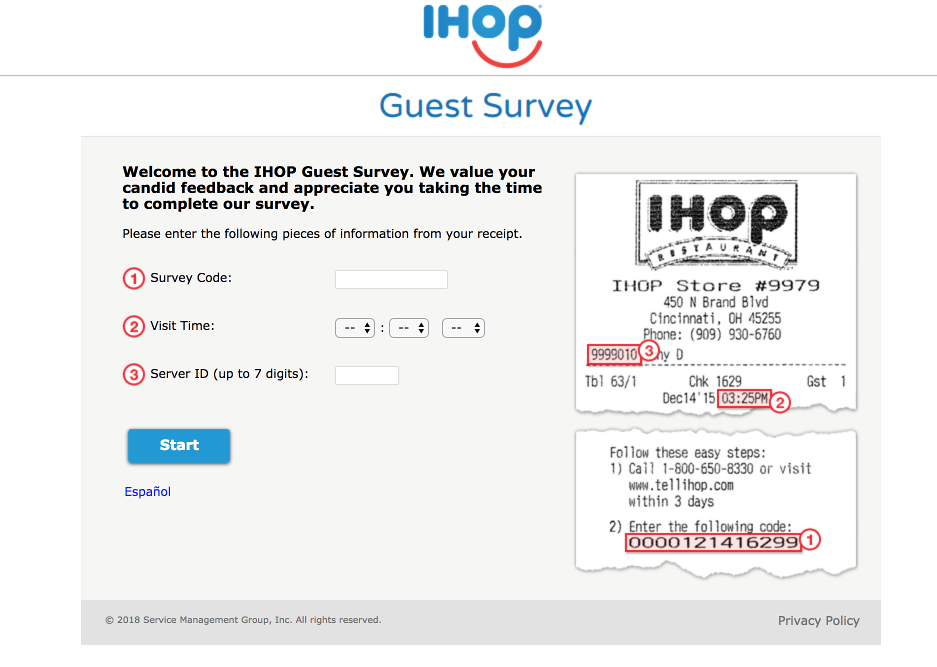 talktoihop survey homepage