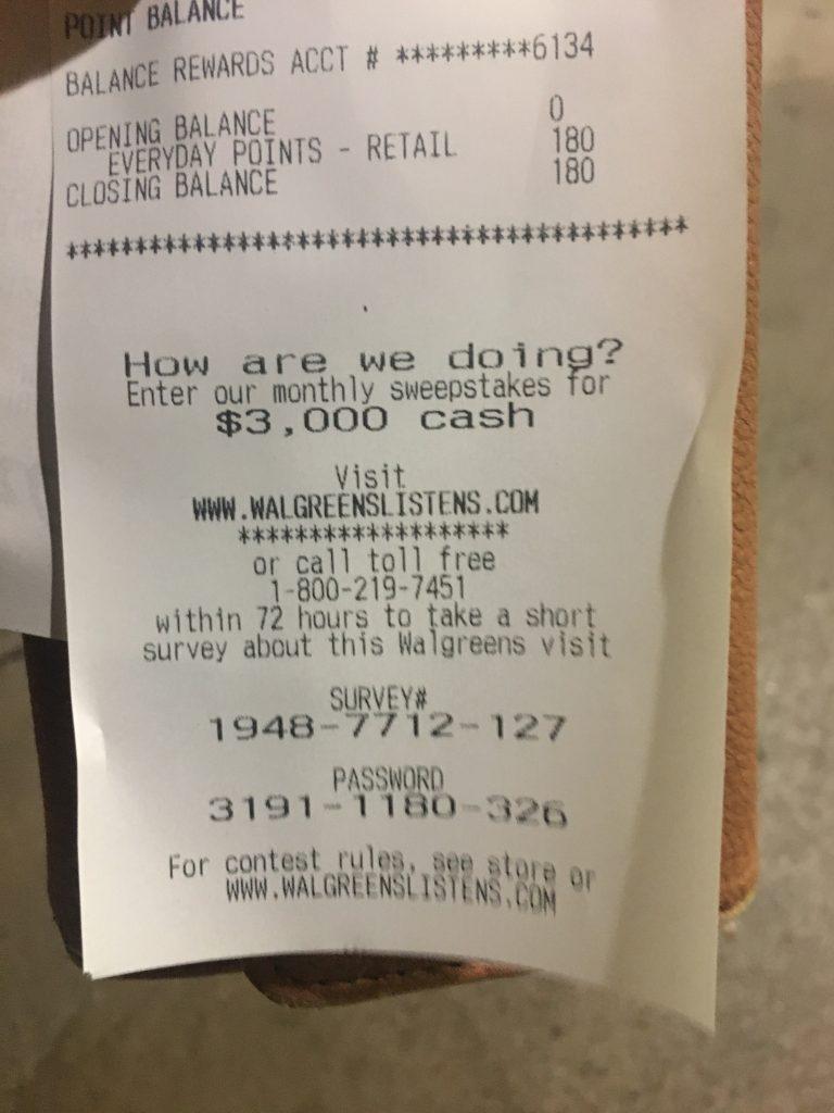 walgreenslistens receipt