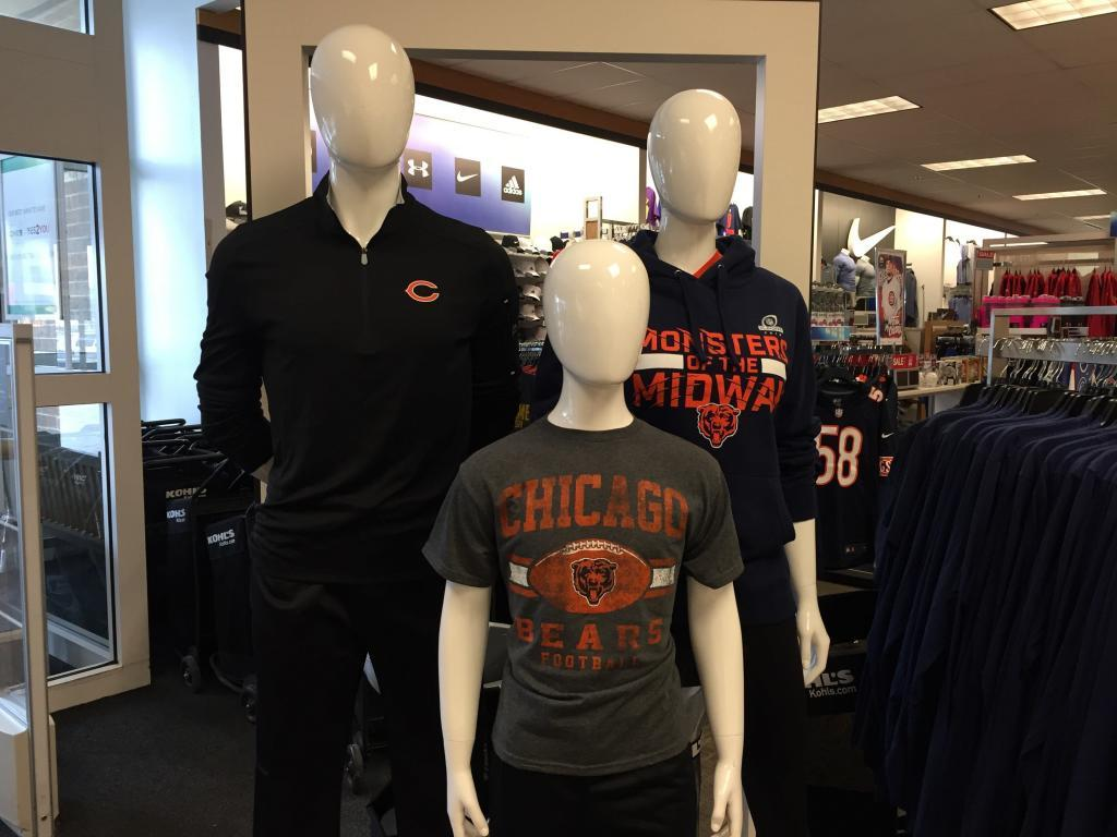 kohls chicago bears mannequins