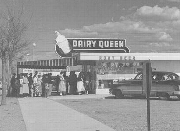 dairy queen line out door