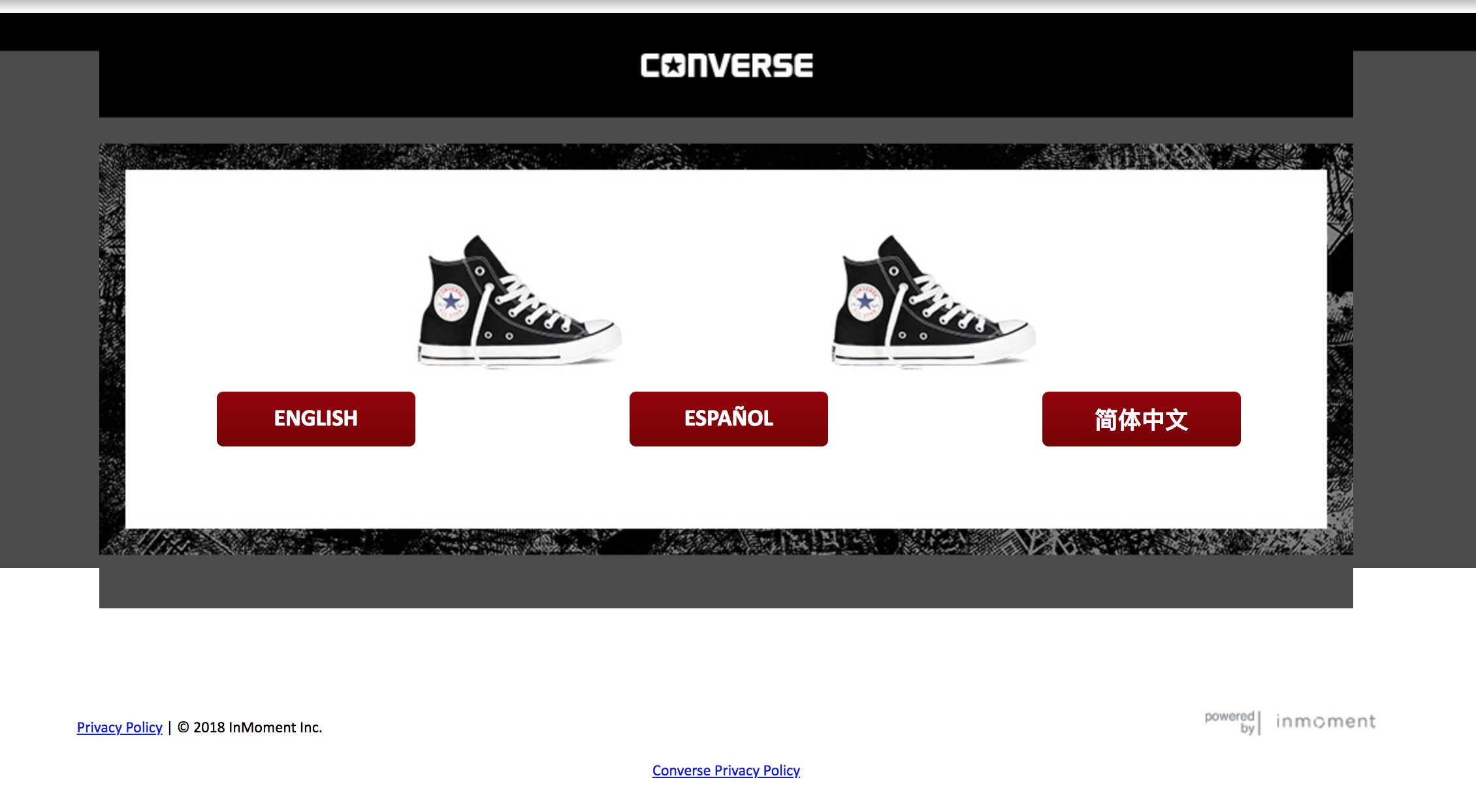 038073cf3d02 MyConverseVisit ― Take Official Converse® Survey ― Get  5 Gift Card