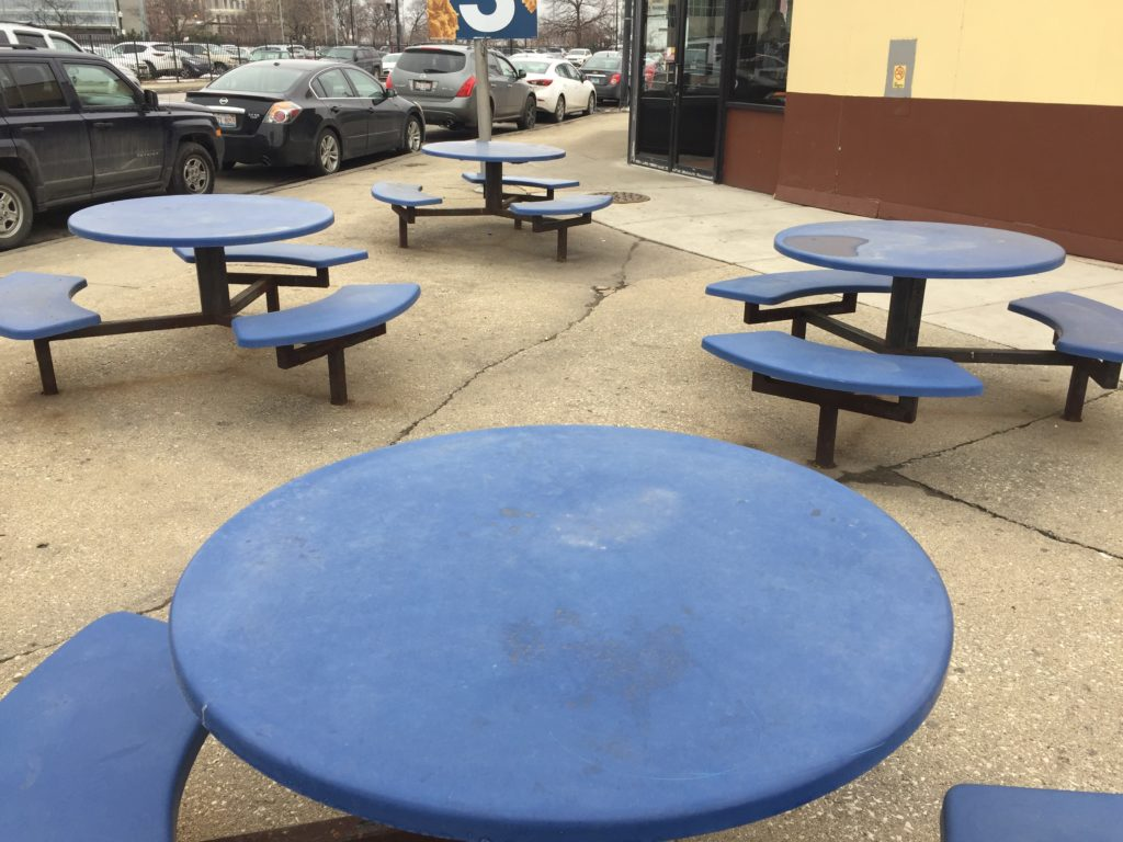 Churchs chicken tables