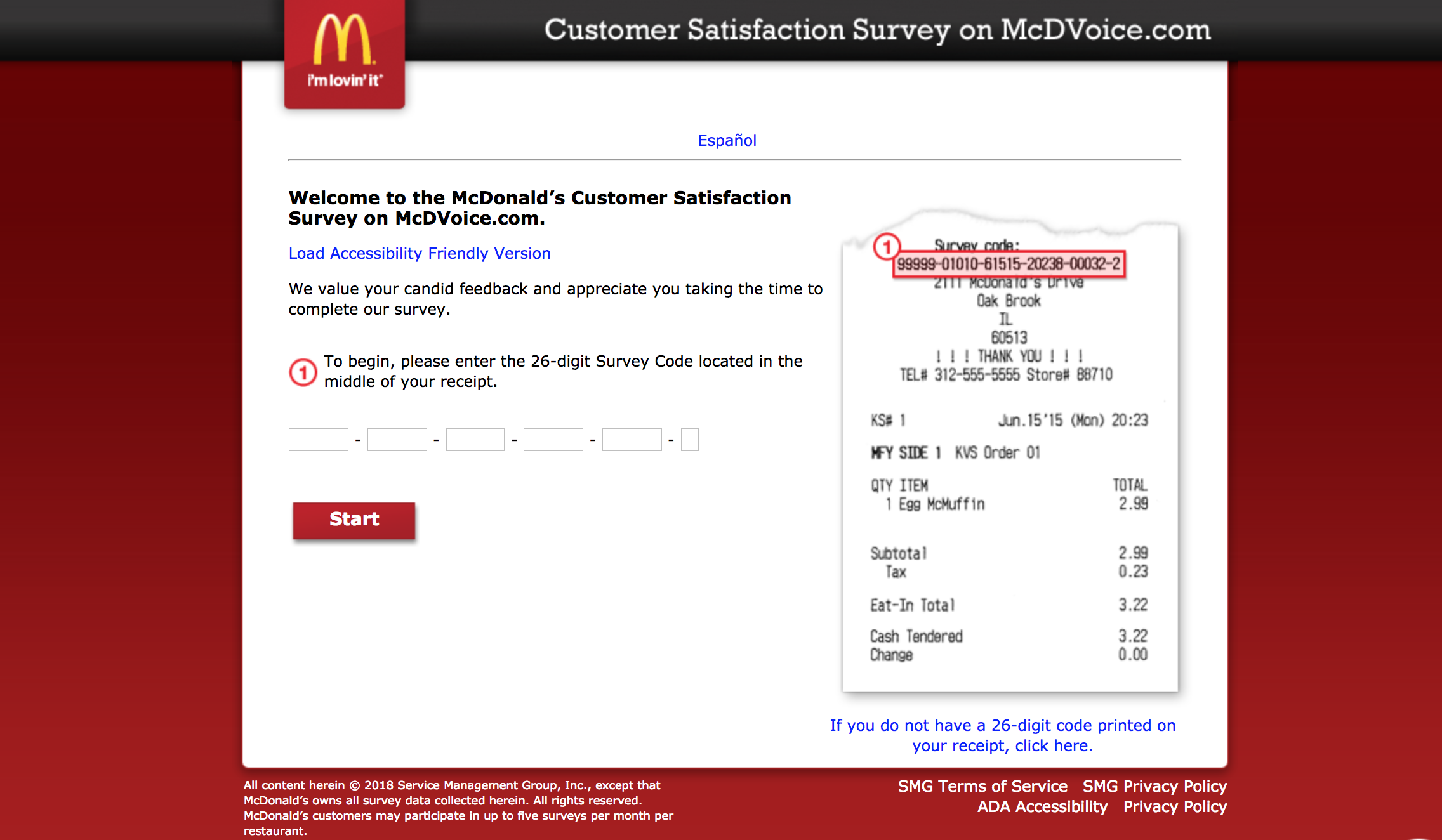 mcdonalds survey