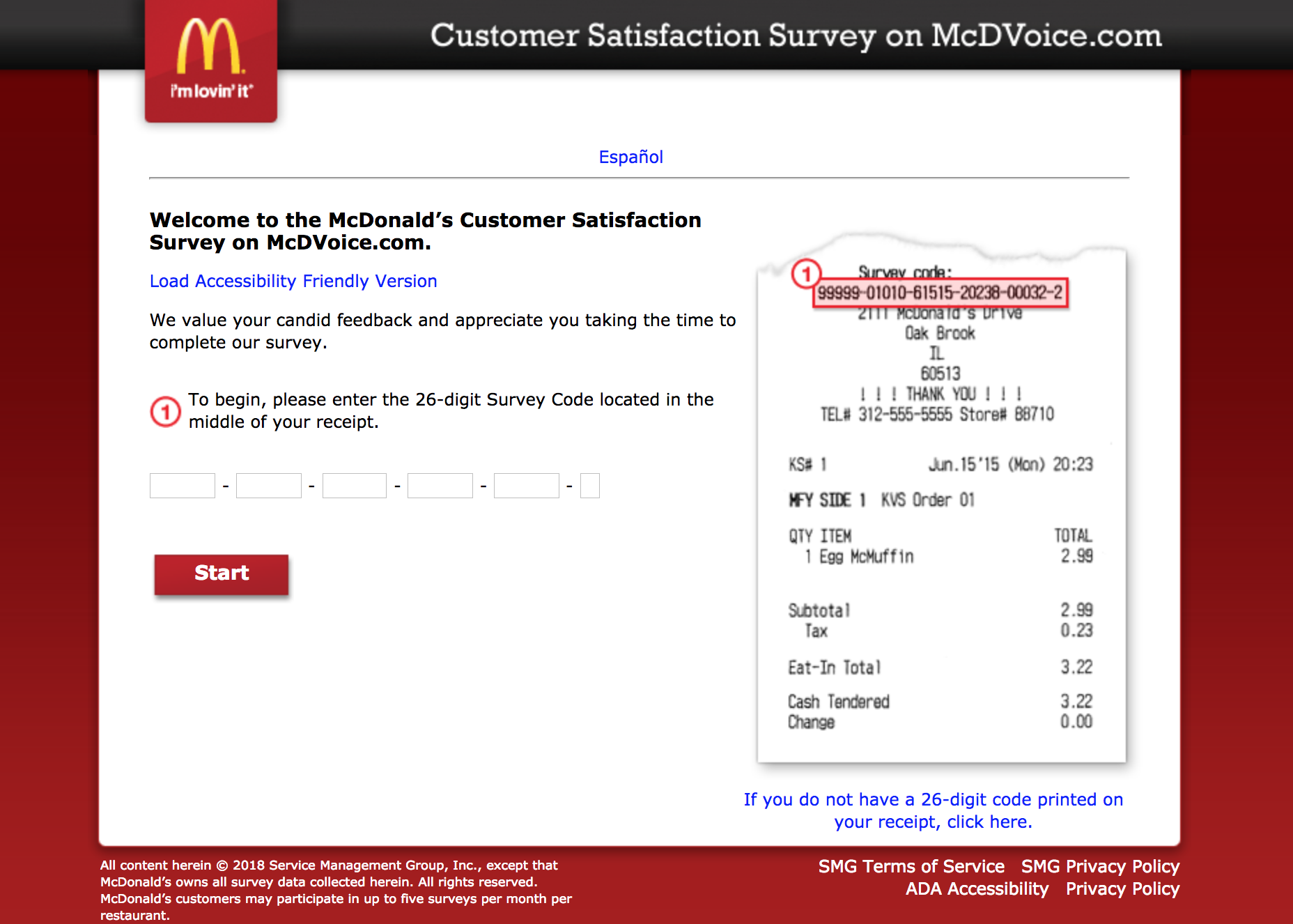 mcdvoice.com homepage