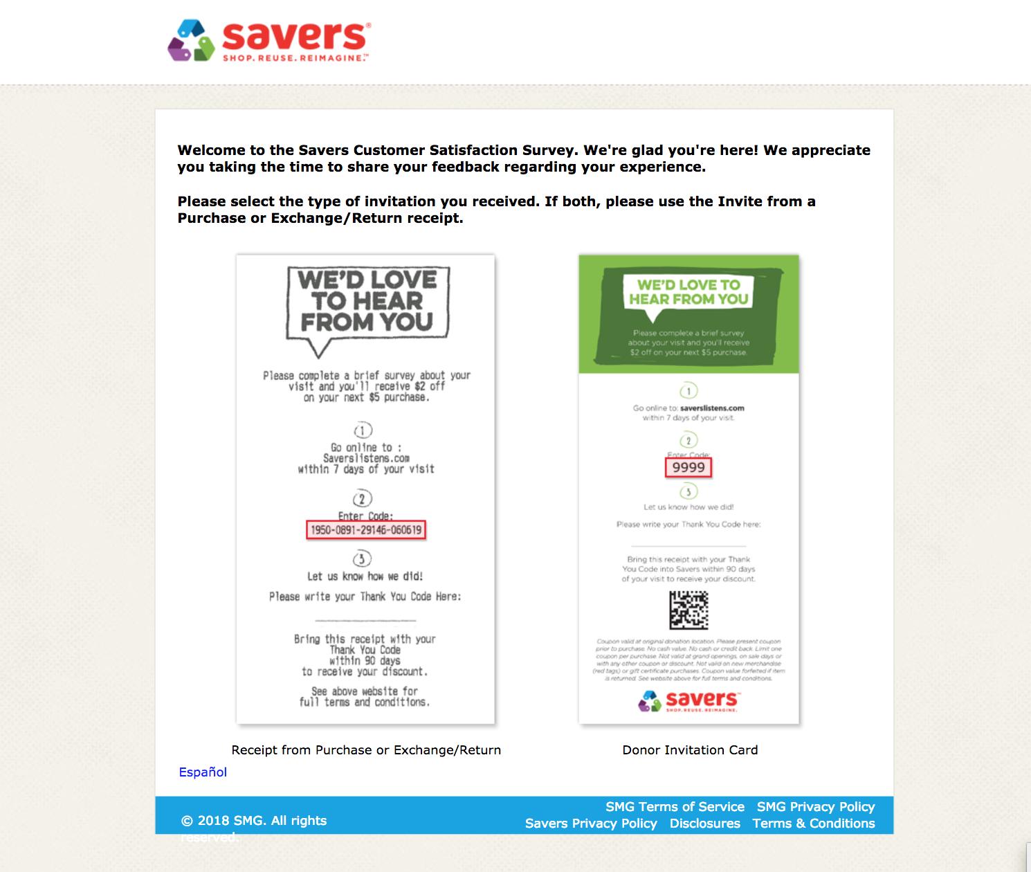 savers listens homepage