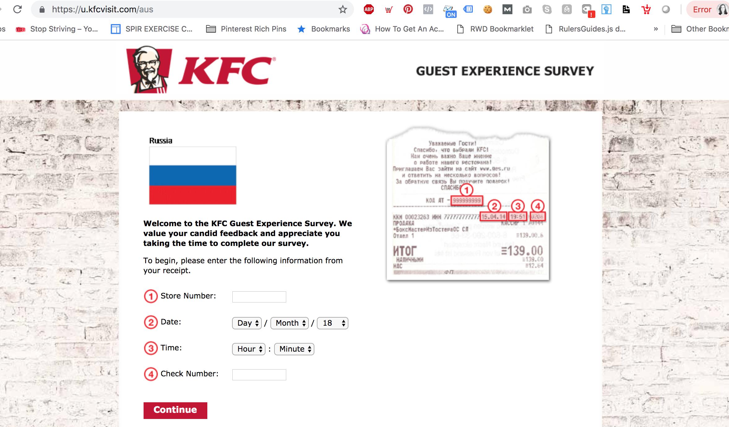 www.kfcfeedback.com au