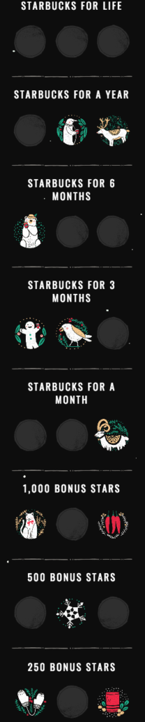 starbucks for life prizes
