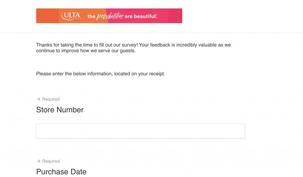 http survey ulta com