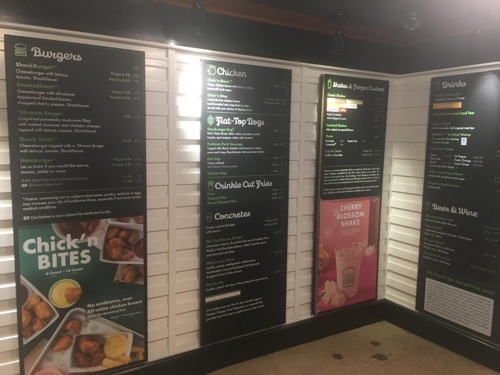 shake shack wall menu