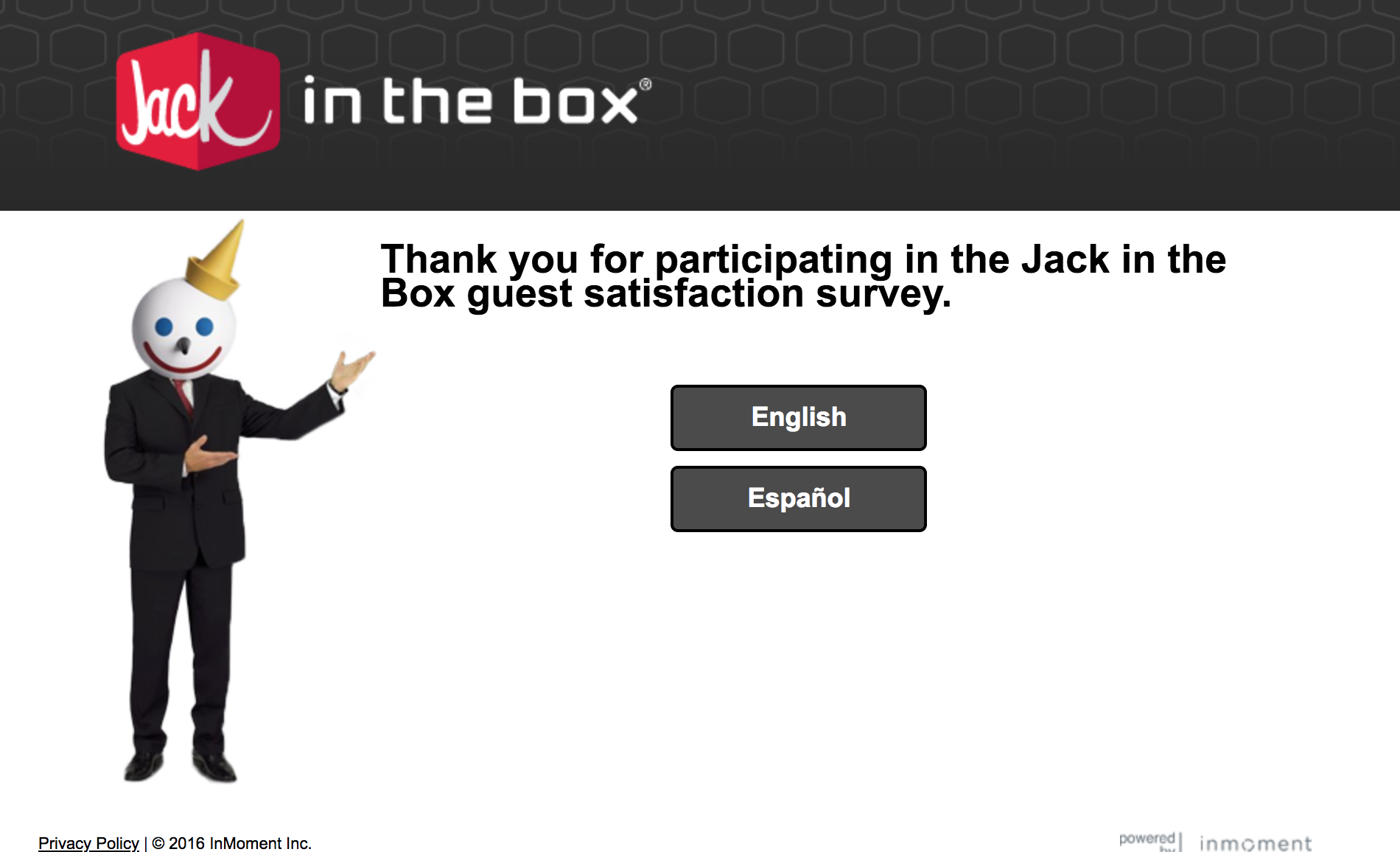 jacklistens survey homepage