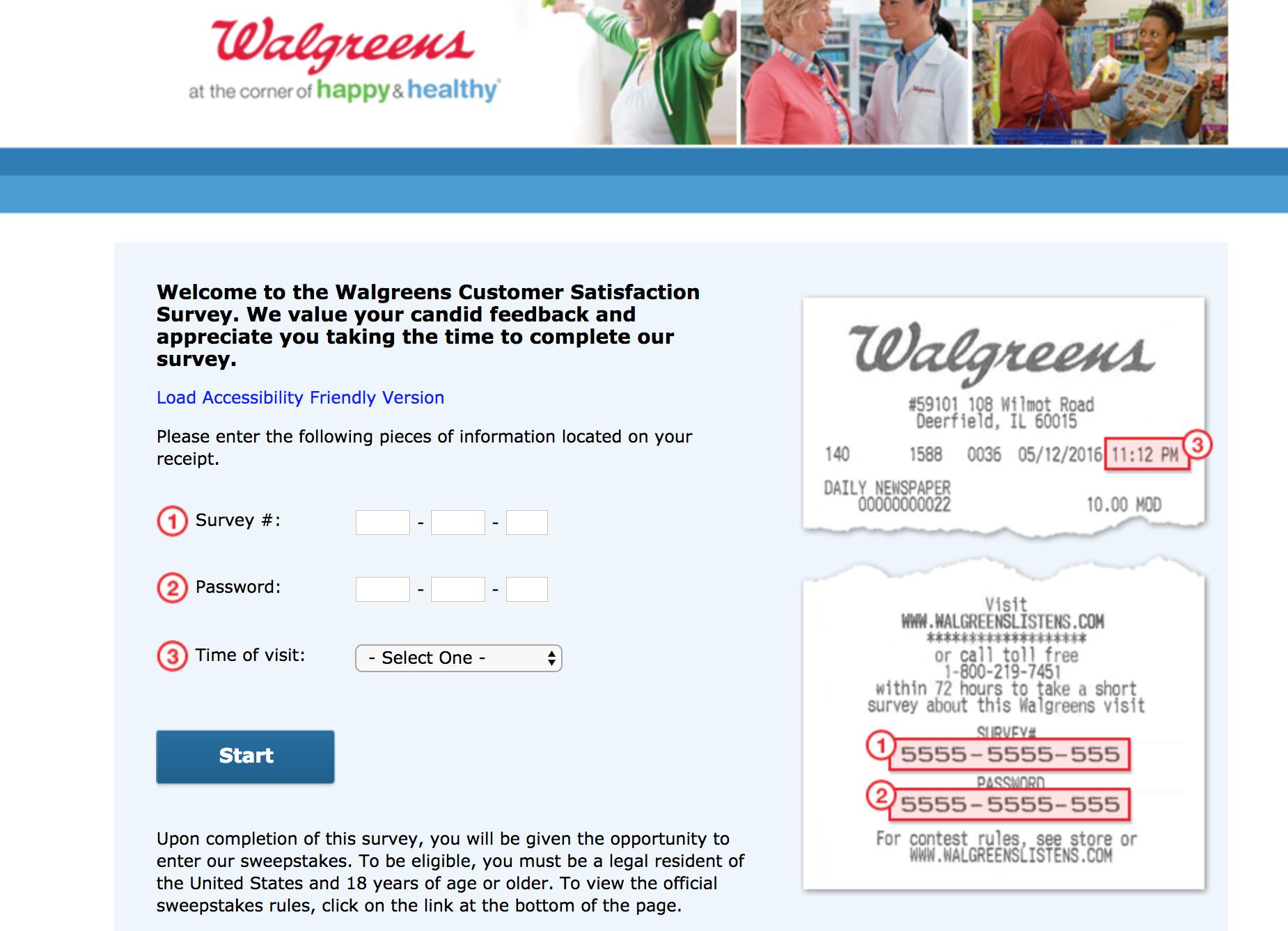 www walgreenslistens com   Take Walgreens® Survey Here   Win $3K
