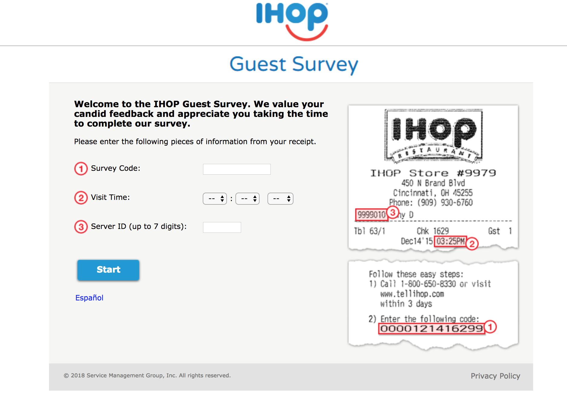 talktoihop survey homepage