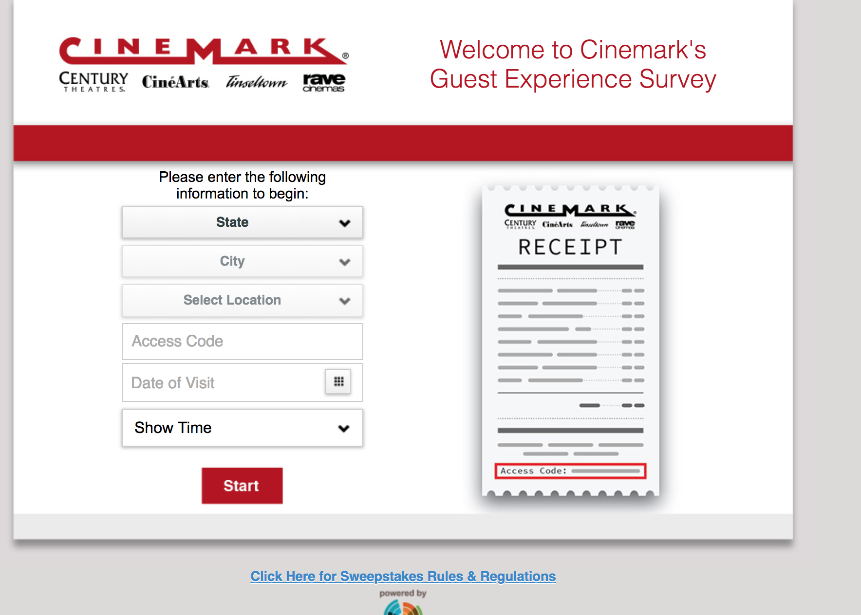 helloworld sweepstakes cinemarksurvey com take cinemark 174 survey win year of 1471